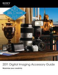 2011 Digital Imaging Accessory Guide - Creative Channel Services