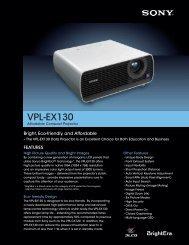 VPL-EX130 - Sony