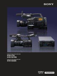 HVR-Z7N HVR-S270N HVR-M35N - Sony Asia Pacific