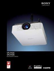 VPL-FH35 VPL-FH30 - Sony