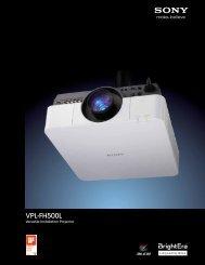 VPL-FH500L - Sony