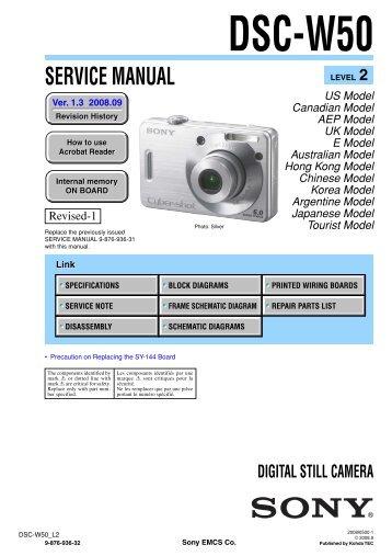 Service Manual of Sony DSC-W50 Digital Camera - SONYRUS