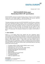 Standardized DVB-T2 RF specifications - DigitalEurope