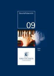 ANHANG ZUM JAHRESABSCHLUSS 2009 - Bankhaus Krentschker ...