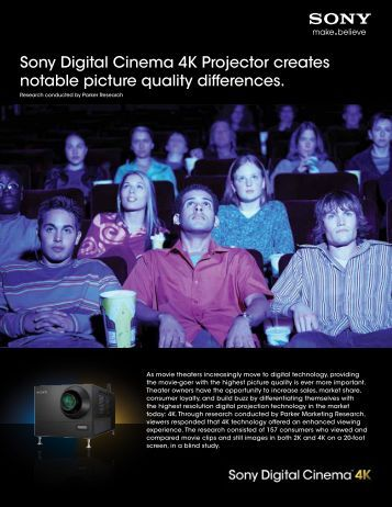 Sony Digital Cinema 4K Projector creates notable picture quality ...