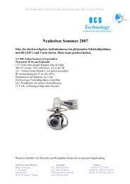 Neuheiten Sommer 2007 - B & S Technology GmbH