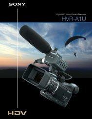 the HVR-A1U HDV 1080i Camcorder - Sony