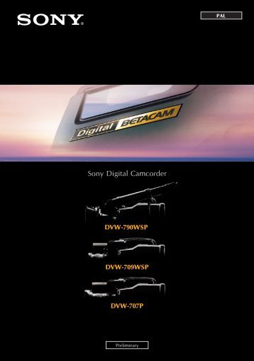 Sony Digital Camcorder - GRS Systems