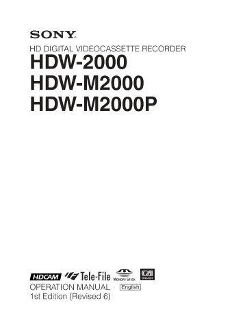 HDW-2000 HDW-M2000 HDW-M2000P - Arizona MPS
