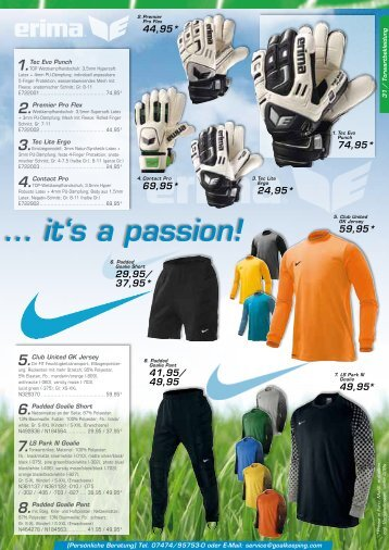 4. Torwarthose - Goalkeeping