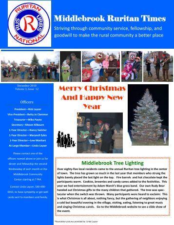 Ruritan Times December 2010 - Middlebrook Virginia Community ...