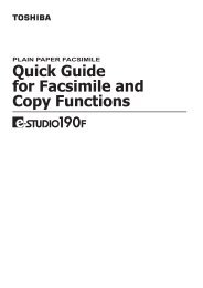 Quick Guide For Facsimile And - Zoom Imaging Solutions, Inc