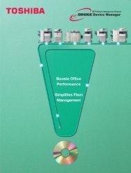 Boosts Office Performance Simplifies Fleet ... - Toshiba Canada