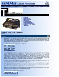 Summit Laser Products - Lexmark T-630 Toner Cartridges - UniNet