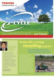 'Green Up' your office products? - Toshiba