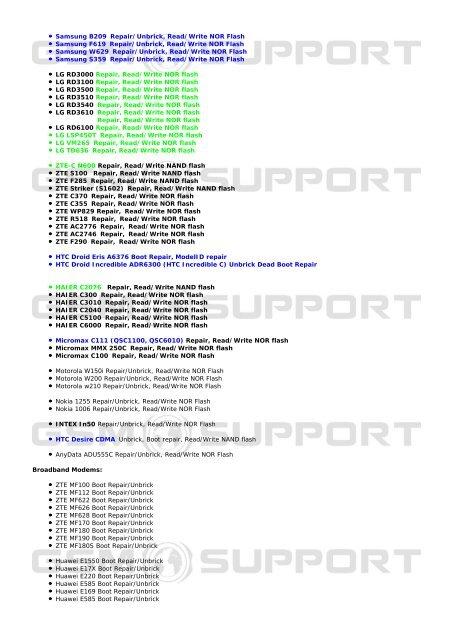 Samsung U900V Boot Repair