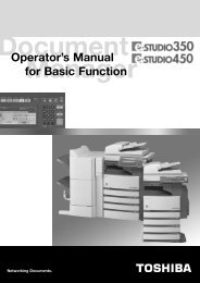 Operator's Manual for Basic Function - Toshiba