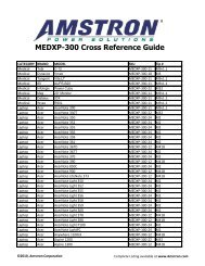 MEDXP-300 Cross Reference Guide - Amstron