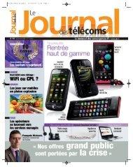 Projet1:Mise en page 1 07/09/2009 - Le Journal Des Télécoms
