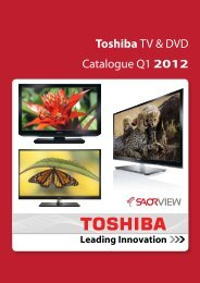 Toshiba TV & DVD Catalogue Q1 2012 - Total Import Solutions