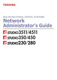 Download - Network Administrator's Guide - Toshiba