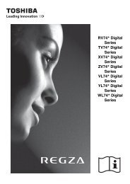 RV74* Digital Series TV74* Digital Series XV74 ... - Toshiba-OM.net