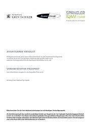 AVANTGARDE ABSOLUT - Bankhaus Krentschker & Co ...