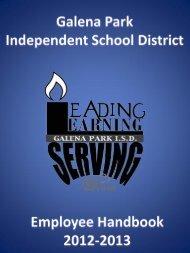 Employee Handbook 2012-13 - Galena Park Independent School ...
