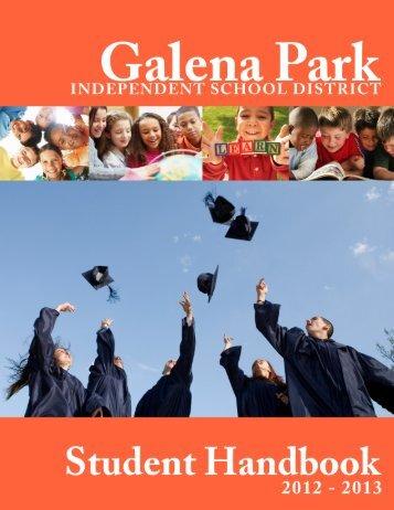 Student Handbook - Galena Park Independent School District