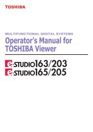 Operator's Manual for TOSHIBA Viewer