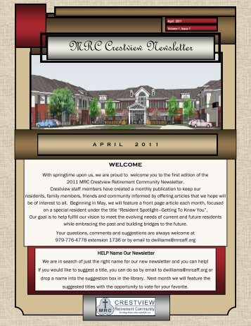 to view/download the file - Methodist Retirement Communities
