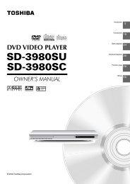 SD3980 Owner's Manual - English - Toshiba Canada
