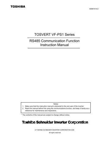 vf fs1 bacnet function manual toshiba rh yumpu com Tachometer Wiring Diagram Metra 70 2002 Wiring Diagram