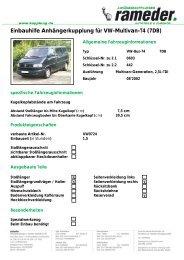 Einbauhilfe Anhängerkupplung für VW-Multivan-T4 (7DB)