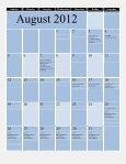 graduate school academic calendar 2012-13 - Tennessee State ... - Page 3