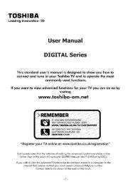 User Manual DIGITAL Series - UK - Toshiba