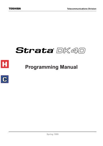 toshiba strata ctx100 admin manual