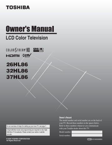 20hl85 owner s manual english toshiba canada rh yumpu com For Toshiba TV Manuals Toshiba E-Studio203sd Manuals