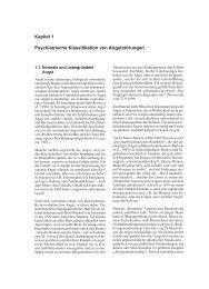 Kapitel 1 Psychiatrische Klassifikation von Angststörungen - Hogrefe