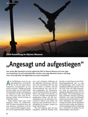 """""""Angesagt und aufgestiegen"""" - Deutscher Alpenverein"""