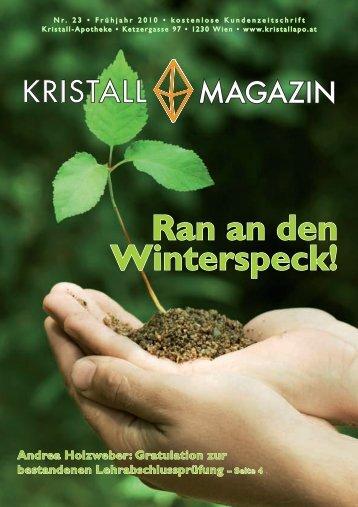 Ran an den Winterspeck! - Kristall-Apotheke
