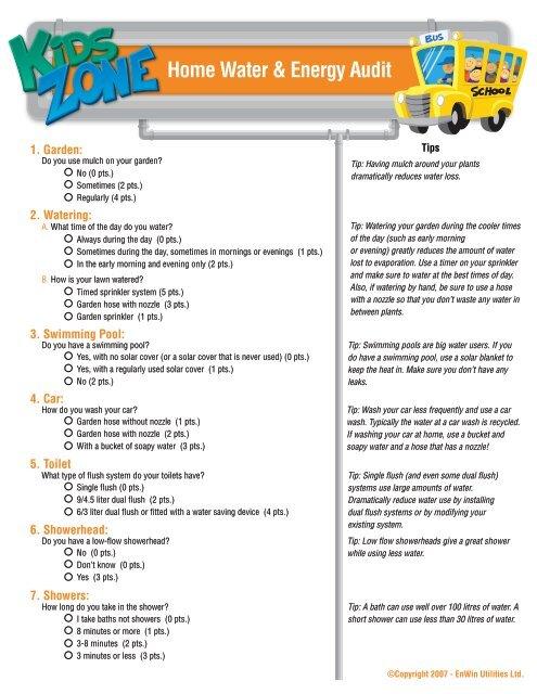 Home Water & Energy Audit Page 2 - Enwin Utilities