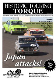 Japan Attacks! - Historic Touring Car Association of Victoria