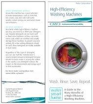High-Efficiency Washing Machines - Capital Regional District