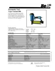 Pneumatic Tool Type Variant 806 - BeA