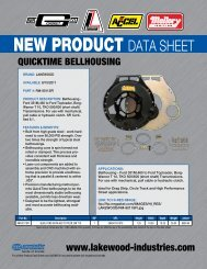 Lakewood QuickTime Bellhousing Ford 351M and 460 to Toploader ...