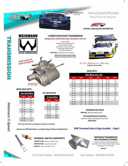 Weismann 5 Speed 70 SCCA