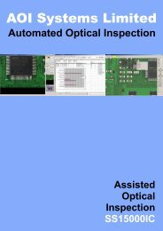 Specification - AOI Systems
