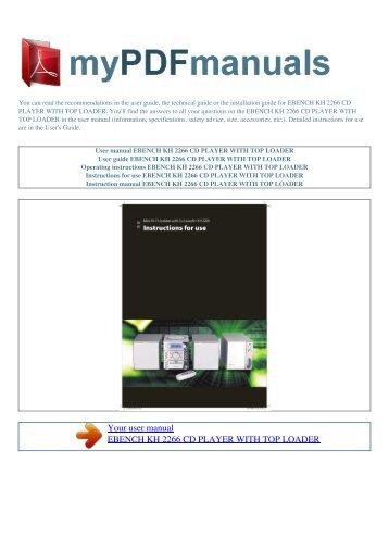 caspian m2 balanced cd player user manual henley designs ltd rh yumpu com onn cd player user manual pioneer cd player user manual
