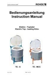 Bedienungsanleitung - Keramik-Design